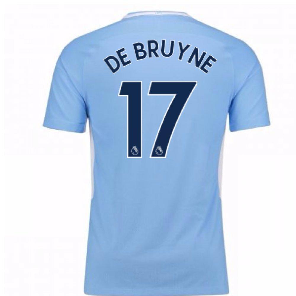 2017-18 Man City Home Football Soccer T-Shirt Trikot (Kevin De Bruyne 17)