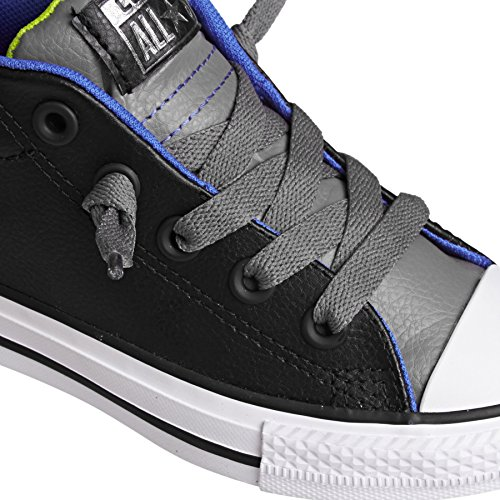 Converse Chuck Taylor All Star Street Mid - Zapatillas para niños LEATHER BLACK CHARCOAL