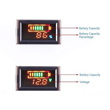 YB28VE W Indicateur de capacité de la batterie, moniteur de