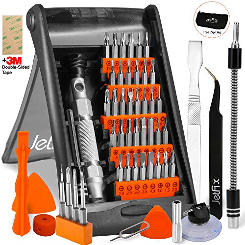 Ultimate Technician Tool Kit - Jetfix Precision IT Screwdriver Set + Magnetic & Auto-Stand kit - Drone/Computer/Watch/Cell Phone/PC/Laptop/Glasses/iPad/iMac/Macbook/iPhone/Tablet/Jewellers/DJI for Office & Home - 57pc
