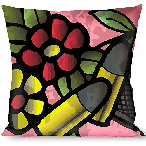 Raise Hell Tattoo - Buckle Down Throw Pillow-Born to Raise Hell C/U Pink, Born to Raise Hell Tattoo