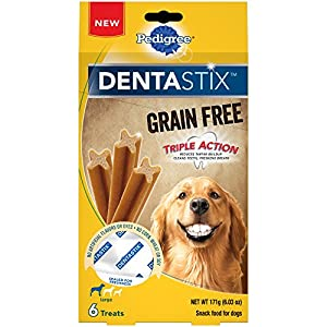 PEDIGREE DENTASTIX Grain Free Dental Treats for Large Breed Dogs (7, 6-Count Packs, 42 Total Treats)