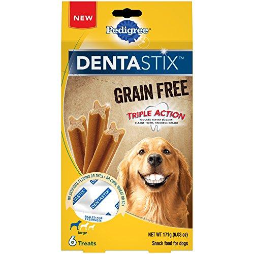 Pedigree DENTASTIX Grain Free Dental Treats for Large Breed Dogs (7, 6-Count Packs, 42 Total Treats)