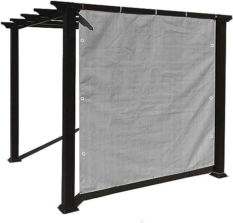 HWF Sombra Solar Malla Inicio Pergola Gazebo Shade Cover con Ojales, Panel de Sombra de Sol Gris Pantalla de Privacidad para Exterior, Patio, Toldo, Cubierta de Ventana (Size : 2Mx2M): Amazon.es: Hogar