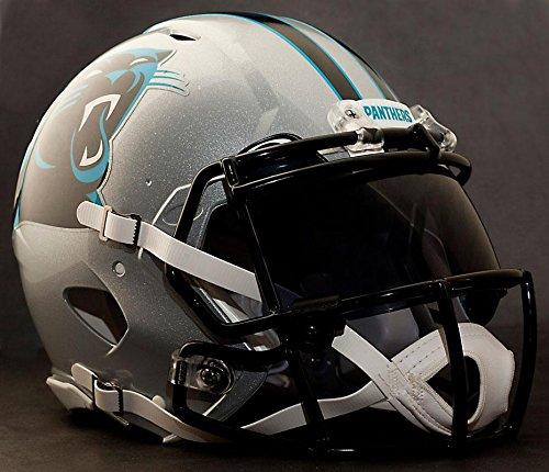 Helmet Carolina Panthers Riddell Replica (Riddell Speed CAROLINA PANTHERS NFL REPLICA Football Helmet with DARK-TINT Eye Shield/Visor)