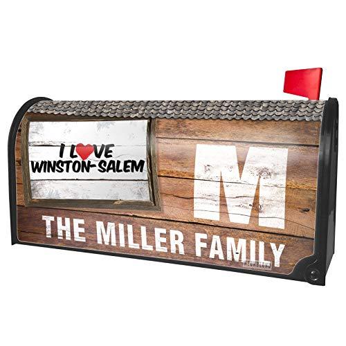 NEONBLOND Custom Mailbox Cover I Love Winston-Salem ()