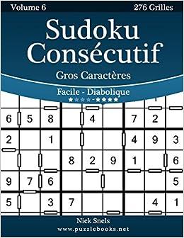 Sudoku Consecutif Gros Caracteres Facile A Diabolique