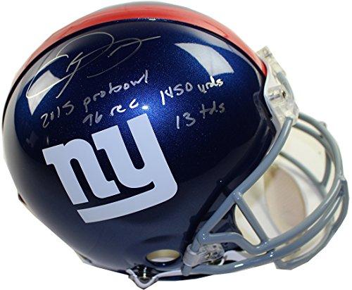 Odell Beckham Jr. Autographed New York Giants Pro Line Authentic Helmet W/2015 (Autographed Giants Pro Line Helmet)
