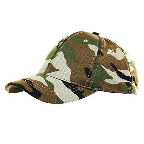 Woodland Combat US Army Camo camuflaje gorra de béisbol Gorro Tapa camuflaje Uso getarnt tarnung elástico Tocado Ejército Militar Airsoft # 18717 Copytec