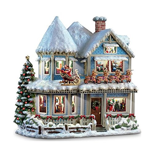Hawthorne Village Thomas Kinkade 'TWAS The Night Before Christmas Collectible Story House by The Bradford Exchange
