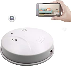 Sunsome Upgrade WiFi Hidden Camera Smoke Detector,HD 1080P Nanny Cam Motion Detection Wireless Mini Video Recorder for Home Security,Support iOS/Android/PC/Mac