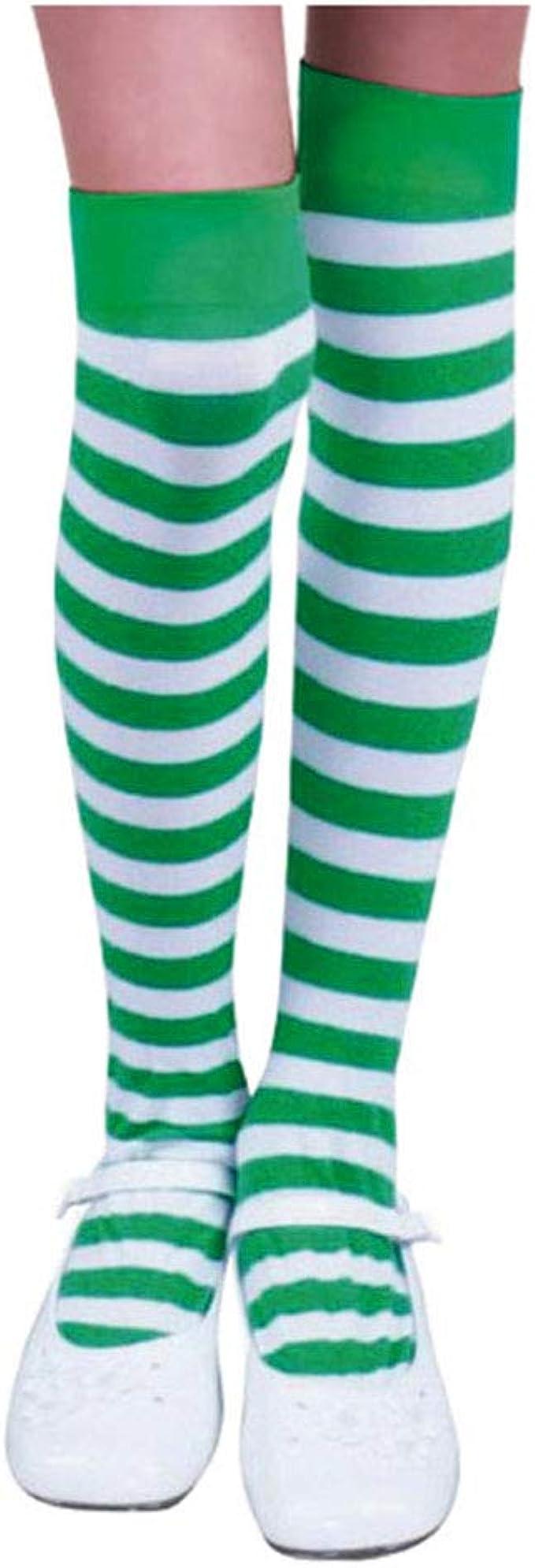 Women Socks Over Knee Irish American Flag Winter Warmth Designer For Halloween