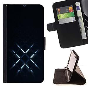 BullDog Case - FOR/Sony Xperia M2 / - / Glowing X /- Monedero de cuero de la PU Llevar cubierta de la caja con el ID Credit Card Slots Flip funda de cuer