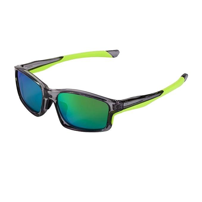 Yufenra polarizzati occhiali da sole sportivi per running ciclismo pesca attività all' aperto (Telaio nero/lente blu) PGtmF