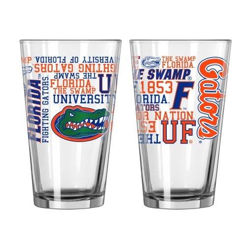 (NCAA Florida - Spirit Pint Glasses (2)   UF Gators 16 oz. Beer Pints - Set of 2)