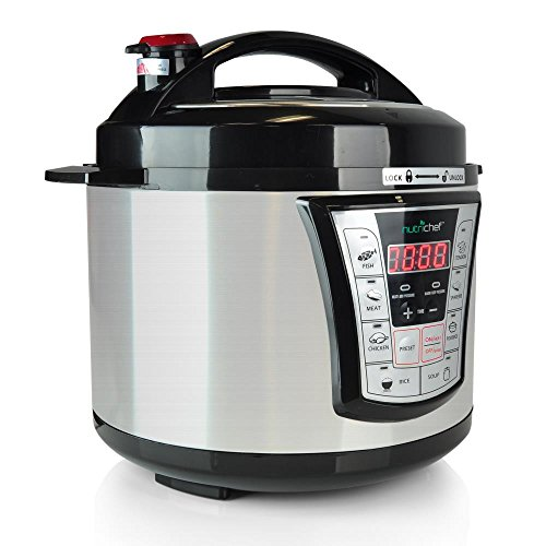 NutriChef-High-Power-Stainless-Steel-Electric-Pressure-Cooker-5-Quart-Programmable-Digital-Instant-Pot-Multi-Recipes-Cooker-with-8-Modes-Lock-Top-Lid-Beep-Alarm-Adjustable-Temp-Timer-PKPRC66