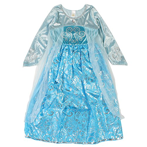 Ice Princess Dress Blue Queen Gown Dress-up (Small)