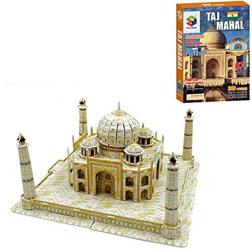 TAJ MAHAL 3D Puzzle Castle Educational Jigsaw Puzzle Model DIY Creativity - 87 Pieces, Holiday Gift