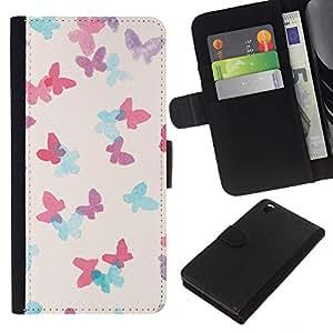 KLONGSHOP // Tirón de la caja Cartera de cuero con ranuras para tarjetas - elefante dibujo blanco africano india - HTC DESIRE 816 //