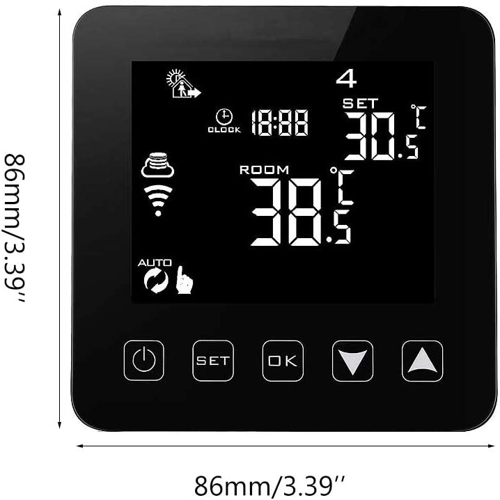YiFeiCT WiFi Programmable Thermostat Echo Alexa Voice Control Electric Floor Heating Room Temperature Control 16A 100-240V