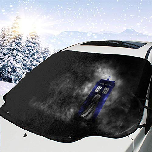 Doctor Who HD Wallpapers Car Windshield Cover Blocks Snow, Ice, Larger Shade Waterproof Sun Protection Sun Thicker Sunshade Fit Most Vehicles, SUVs, Trucks, MPVs 58 x 46.5 inch (Best Batman Wallpaper Hd)
