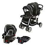 Graco Double Baby Stroller + SnugRide Car Seat + Car Seat Base Travel System