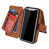 Best Cash Compartments For IPhones - iPhone X Case, Zeato Premium Leather Zipped Case Review