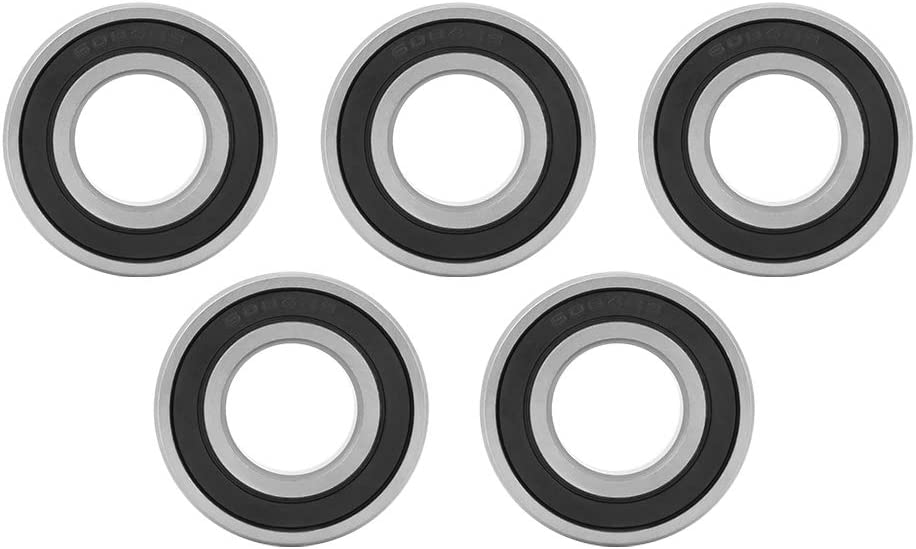 Zerone 10pcs Rubber Sealed Deep Groove Ball Bearings 6004-2RS1 20x42x12 mm