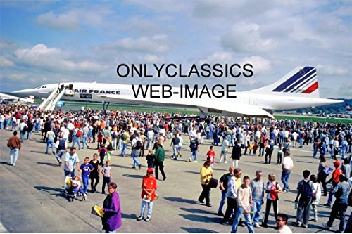 Jet Concorde (OnlyClassics 1998 AIR France Concorde Supersonic Jet Airplane Photo Zurich Airport Aviation)
