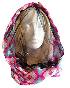 Mozzie Scarf (Southwestern Diamond) - Infinity Scarf with a Built-In NoSeeUm Mosquito Screen
