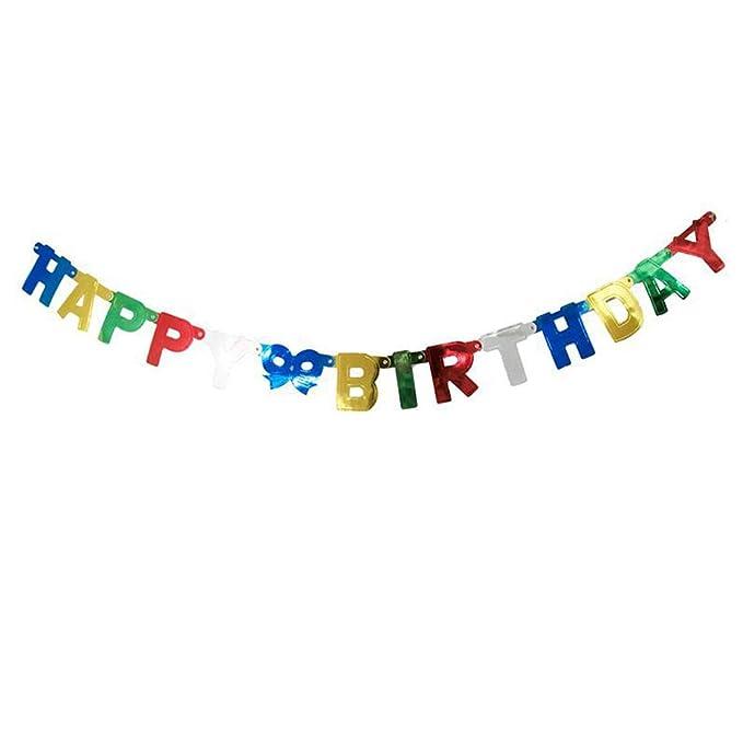 Ningz0l Decoraciones Cumpleaños, Letras Brillantes Feliz ...