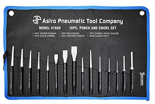 Astro Pneumatic Tool. 1600 16-Piece Punch and Chisel Set (Limited Edition) ()