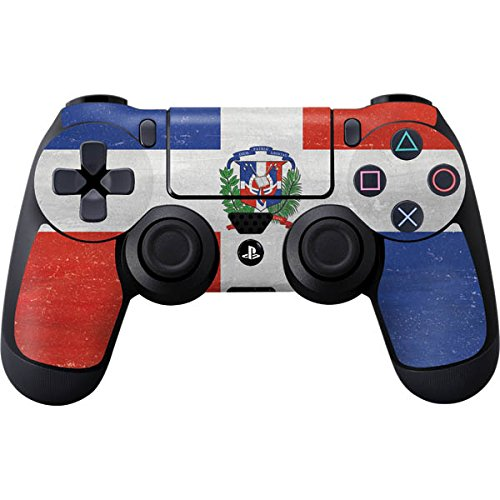 Countries of the World PS4 Controller Skin - Dominican Republic Flag Distressed