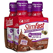 Slim Fast Advanced Nutrition, Meal Replacement Shake, High Protein, Creamy Chocolate, 11 Ounce, 4 Count