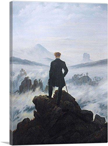 ARTCANVAS The Wanderer Above The Sea of Fog 1818 Canvas Art Print by Caspar David Friedrich- 26