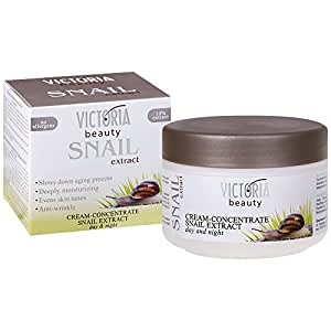 Victoria Beauty – Crema facial noche y día – Anti-Age – Concentrado de extracto de caracol – 50 ml