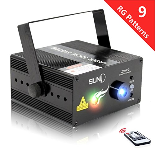 SUNY Mini Portable Stage Laser Projector, Sound Activated...