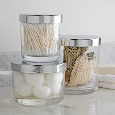 U.S. Acrylic Premium Quality Plastic Bathroom Vanity Canister Set of 3 | Signature Collection