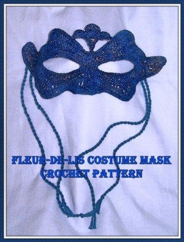 Fleur de lis Costume Mask Crochet -