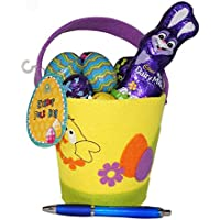 Cadbury Eggs and Bunny in Felt Bag
