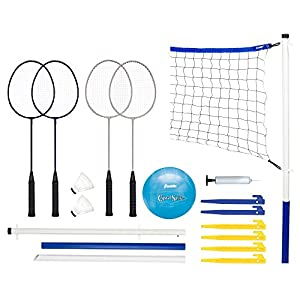 Franklin Sports Recreational Badminton and Volleyball Combo Set from Franklin Sports, Inc.