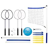 Franklin Sports recreativos Badminton y Voleibol Combo Set