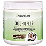 NaturalSlim'Super' Organic Coconut Oil with CoQ10, Formulated by Obesity and Metabolism Specialist to Improve Energy Levels and Assist with Weight Loss - Natural Fat Burner to Any Diet Attempt 16 Oz