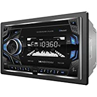 Soundstream VCD-22B Double DIN CD/MP3/AM/FM Receiver with 32GB USB Playback/Bluetooth