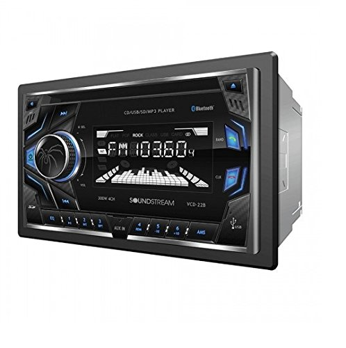 Soundstream VCD-22B Double DIN CD/MP3/AM/FM Receiver with 32GB USB Playback/Bluetooth by Soundstream