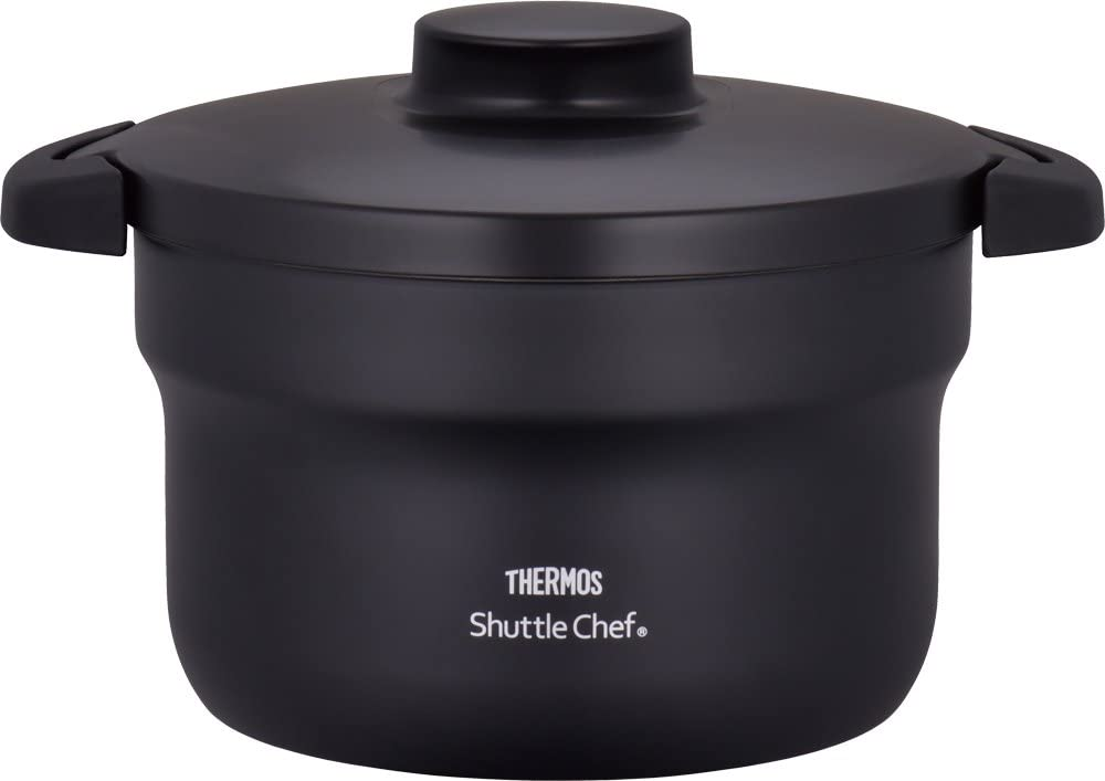 "THERMOS Vacuum Warm Cooker ""Shuttle Chef"" KBJ-3000 BK (Black)【Japan Domestic genuine products】"