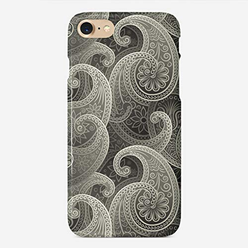 ZHIQCH iPhone 7/8 case Platinum Paisley Timeless Pattern Slim Fit Hard Plastic Cover Cases Full Protective Anti-Scratch Resistant Compatible with iPhone -