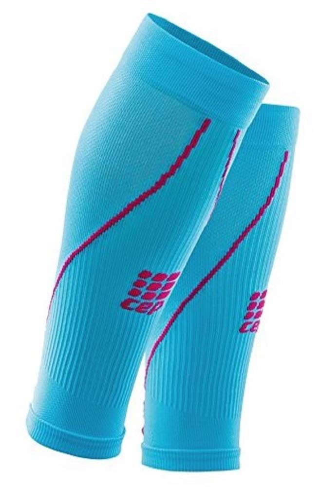 Womens Calf Compression Sleeves - CEP Running, 2.0 (Hawaii Blue/Pink), 9.5-12 Inch by CEP
