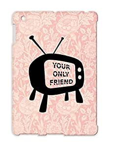 Anti-scuff Youronlyfriend Cartoon Funny Friend Television COUCH POTATO Tv Lonely For Ipad 2 Black TPU Protective Case