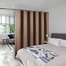 NICETOWN Privacy Room Divider Curtain - Hide Clutter Separate Functions Grommet Top Room Divider Curtain Panel(8ft Tall x 10ft Wide,Cappuccino)